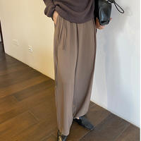 side ribbon wide slacks/3color