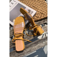 clear lace up sandal/camel[0084]