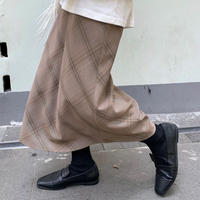 glen check skirt/2color