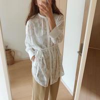2way sheer jacquard shirt/2color