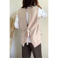 back ribbon knit vest/3color