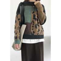 block design knit/2color