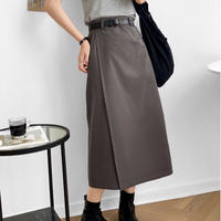 cotton straight skirt/3color
