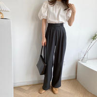 basic wide  pants/2color