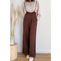 salopette wide pants/2color