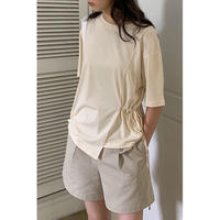 side shirring Tee