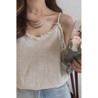 cotton linen camisole(即納のみ)