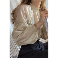 frill neck blouse/2color[0077]