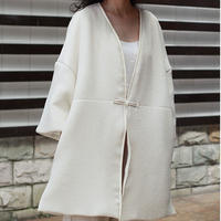 bubble jacquard china coat