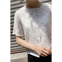 no collar dot blouse(2colors)