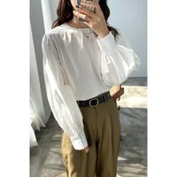 balloon cotton blouse/2color