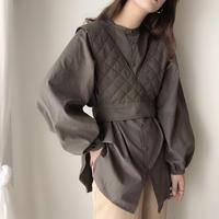 【SET】quilt bustier & blouse/3color