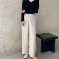 twist linen pants/2color