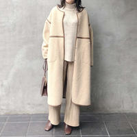 reversible mouton boa coat/2color
