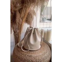 eco leather kinchaku bag/4color