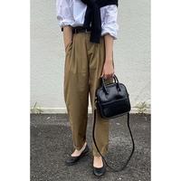 cropped tuck slacks/2color