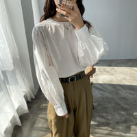 balloon cotton blouse/2color