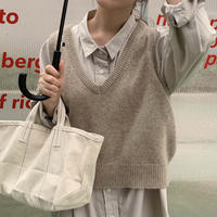 V neck knit vest