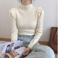 puff rib knit tops/5color