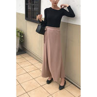 wrap wide knit pants/3color