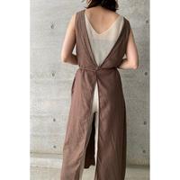 3way linen apron dress/2color