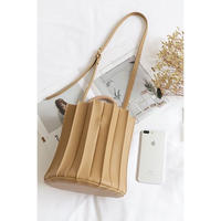 pleats mini hand bag/3color
