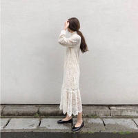 lace long dress/2color