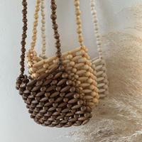 wood beads mini bag/3color
