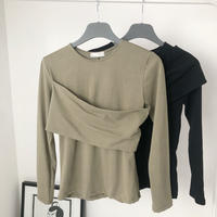 【MADE in KOREA】Bare Top Cutsew       2col