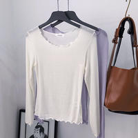 【MADE in KOREA】Sheer Mellow Tops    2col