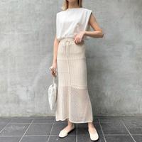 【予約】cotton mix knit sk