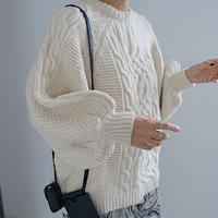 【MADE inKOREA】cable knit tops