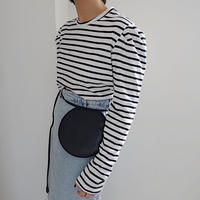 【MADE in KOREA】puff sleeve border tops