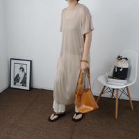 Sheer knit One-Piece  2  col