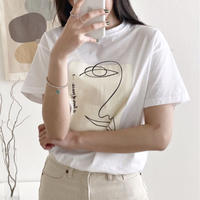 【MADE in KOREA】Face Motif Tee      2col