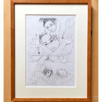 やまだないと/西荻夫婦・鉛筆原画4(フレーム付き)(額別売り)