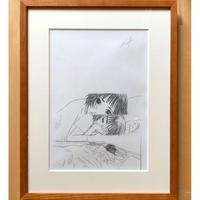 やまだないと/西荻夫婦・鉛筆原画6(フレーム付き)(額別売り)