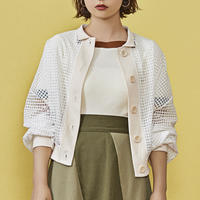 window pane see through cardigan ( off white )