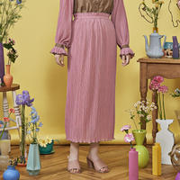 cosmos mellow pleats skirt ( pink )
