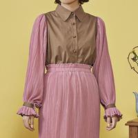 cosmos frill docking shirt (pink)
