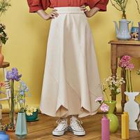 marguerite denim skirt ( off white )