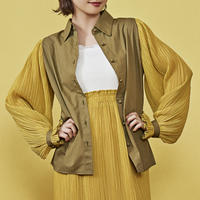 cosmos frill docking shirt ( mustard yellow )
