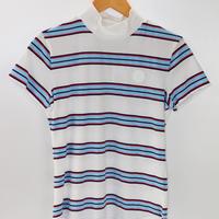 VIVAHEART(ビバハート) レディース ボーダーモックネックシャツ