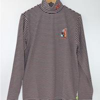 VIVAHEART(ビバハート) メンズ ベアボーダーモックネック長袖シャツ