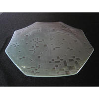 昭和型ガラス「こと」 皿 八角形 大(Φ180mm)