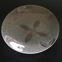 昭和型ガラス「めばえ」 皿 円形 小(Φ120mm)