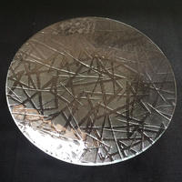 昭和型ガラス「まつば」 皿 円形 小(Φ120mm)