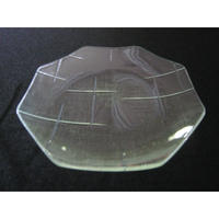 昭和型ガラス「かすり」 皿 八角形 小(Φ120mm)