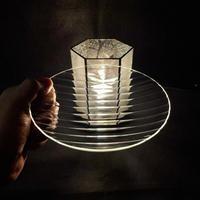 昭和型ガラス「モール」 皿 円形 小(Φ120mm)