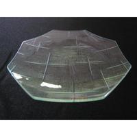 昭和型ガラス「かすり」 皿 八角形 中(Φ150mm)